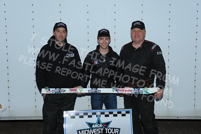 """20160514-820 - ARCA Midwest Tour """"Cabin Fever 100"""" at State Park Speedway - Wausau, WI"""