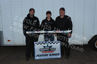 """20160514-815 - ARCA Midwest Tour """"Cabin Fever 100"""" at State Park Speedway - Wausau, WI"""
