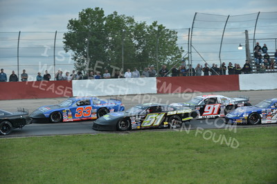 """20160715-443 - ARCA Midwest Tour """"Wayne Carter Classic 100 presented by Rod Baker Ford and Illinois Truck Equipment """" at Grundy County Speedway - Morris, IL7/15/2016"""