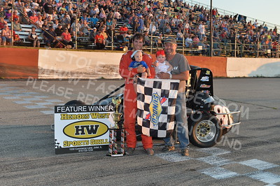 "20170715 1024 - ARCA Midwest Tour ""Wayne Carter Classic 100"" at Grundy County Speedway - Morris, IL - 7/15/17"