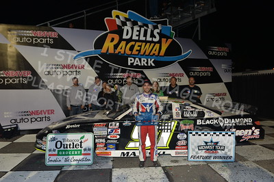 """20170902 906 - ARCA Midwest Tour """"Bill Meiller Memorial 101 presented by Assembly Products"""" at Dells Raceway Park - Wisconsin Dells, WI - 9/2/17"""