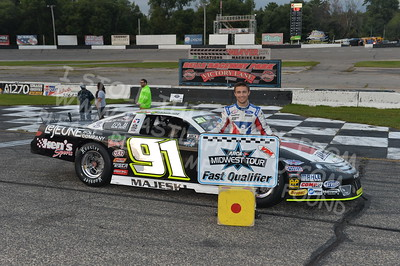 """20170902 837 - ARCA Midwest Tour """"Bill Meiller Memorial 101 presented by Assembly Products"""" at Dells Raceway Park - Wisconsin Dells, WI - 9/2/17"""