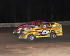 Bridgeport Poker series hand 4 has old rivals Jimmy Horton and Billy Pauch racing for the lead on the white flag lap.  This photo appeared in the Sept. 4 edition of AARN.