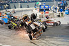 This photo from Friday night's racing action at Boardwalk Hall graced the front cover of the Feb. 7th edition of Area Auto Racing News,