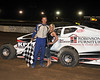 Ryan Andersen took the Crate feature Saturday night April 14th. at Bridgeport Speedway.  This photo of Ryan and Miss Bridgeport Skye Michael appeared in the April 17th edition of Area Auto Racing News.