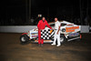 Jordan Watson in Victory Lane after winning the Crate Modified feature at Georgetown Speedway on August 17th.  This photo appeared in the August 21st. edition of AARN.