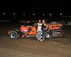 Mike Barone scores his first Big Block win Saturday night April 14th at Bridgeport Speedway.  This photo of Mike and Miss Bridgeport Skye Michael appeared in the April 17th edition of Area Auto Racing News.