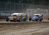 Qualifying action at Bridgeport Speedway.  This photo appeared on the April 24th edition of Area auto Racing News.