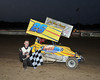 Lee Nardelli swept the Friday night Micro races, winning both the 270cc and 600cc features on May 25th.  This photo appeared in the May 29th edition of AARN.