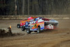 Steve Durant, Neal Williams and Richie Pratt Jr. power onto turn one at Bridgeport Speedway.  This photo appeared in the November 13th edition of Area Auto Racing News.