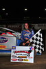 Rick Lauback in Bridgeport Victory Lane on June 30th.  This photo appeared in the July 3 edition of AARN.