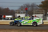 Matt Budd raced his Crate 1 car against the 358 Sportsman Saturday at Bridgeport.  This Laura Sweeten photo appeared in the November 13th edition of Area Auto Racing News.