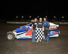 The Hill brothers owned the night at Bridgeport Speedway on May 19th.  Travis won the Crate feature and Jesse won the Big Block feature.  That's dad in the middle.  This photo appeared in the May 22nd edition of AARN.