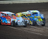 """Three wide racing during the """"Tom Hagar Remembered"""" race on July 24th.  This photo appeared in the July 31 edition of AARN."""