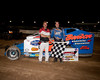 Rick Lauback in Victory Lane after his August 4th Big Block Modified victory at Bridgeport Speedway.  This picture appeared in the August 7th edition of AARN.
