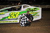Matt Budd celecrates in Bridgeport's Victory Lane on June 2nd.  This photo appeared in the June 5th edition of AARN.