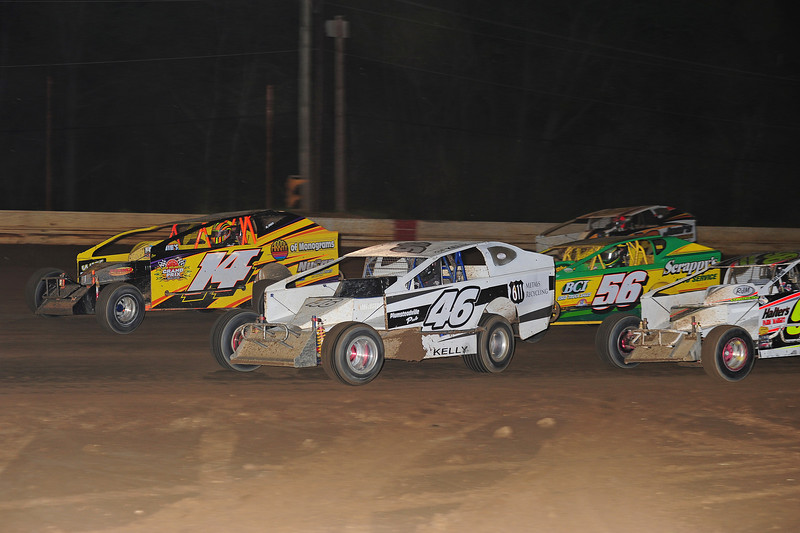 Sportsman action at Bridgeport.   This May 17 photo appeared in the 5/20 Area Auto Racing News.