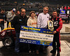 "Billie Pauch receives the ""Hard Charger"" award at the Gambler's Classic in Atlantic City indoor races."