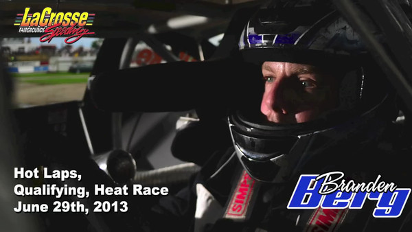 In car video from hot laps, qualifying and heat race. June 29th, 2013.