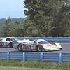 Miller/BF Goodrich Porsche 962 leads Castrol Jaguar