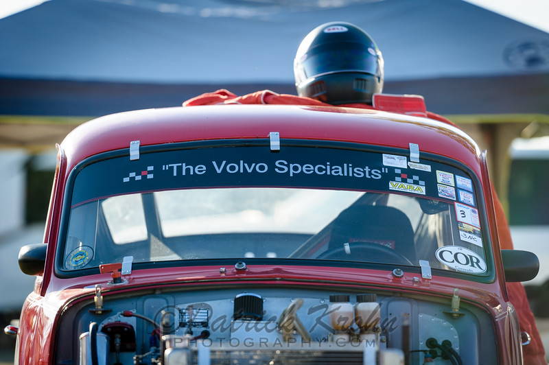 #544, 1964 Volvo PV544 - Alan Berry Group 3. Morning sun before racing starts.