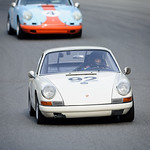 #92 1967 Porsche 9115, White, CP, Michael Reischl, Group 2 meduim bore production & 4 1967 Porsche 911, Gulf, CP, Steve Gilmore, Group 2 meduim bore production