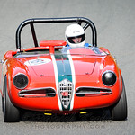 #181 1962 Alfo Romeo Spyder, Red, FP, Todd Sullivan, Group 1 small bore prod/formula vee
