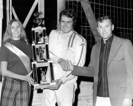 Kenny Brightbill, Leon Manchester, Miss Bridgeport Speedway (1973?)