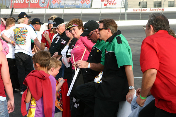 Irwindale Speedway. King Taco 200. NASCAR Grand Nationals West autograph session. July 22, 2006