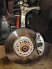 BEFORE - Audi A4 Front brakes, 11 years, original.