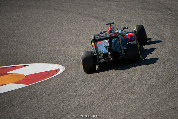 Fernando Alonso tucks in to Turn 12