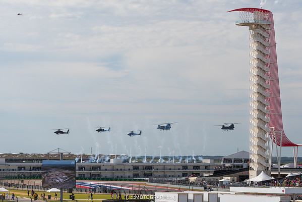 Opening festivities included fireworks and a flyover by US Army Apache and Chinook helicopters