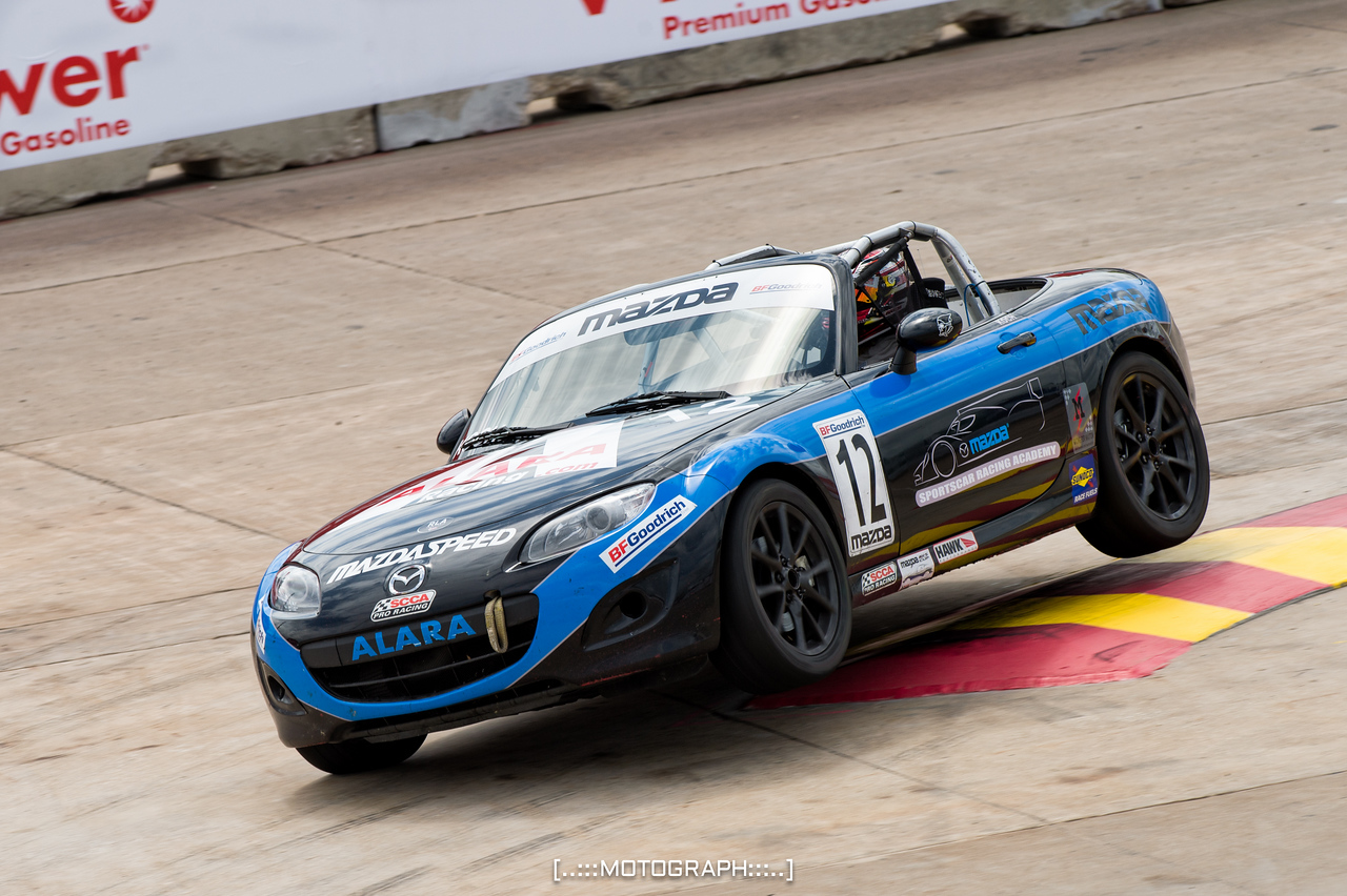 Mazda MX-5 Cup competitor Kenton Koch scorched the field winning both races