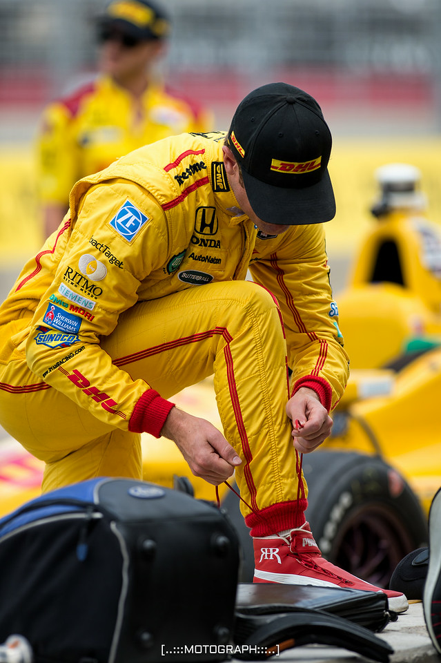 Andretti Autosport pilot Hunter Reay prepares for first practice