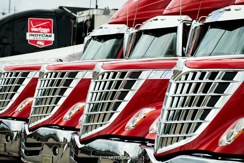 IndyCar haulers arrive on Thursday