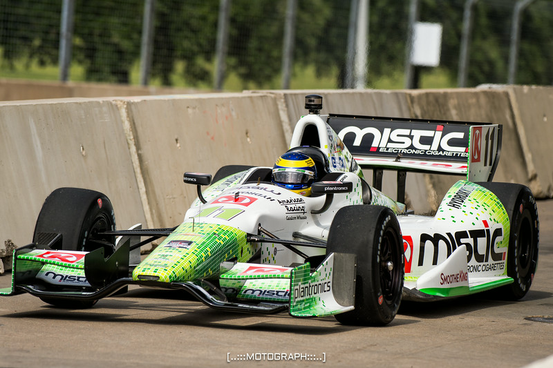 Mistic Ecigs' Sébastien Bourdais finished in the top five both days of racing