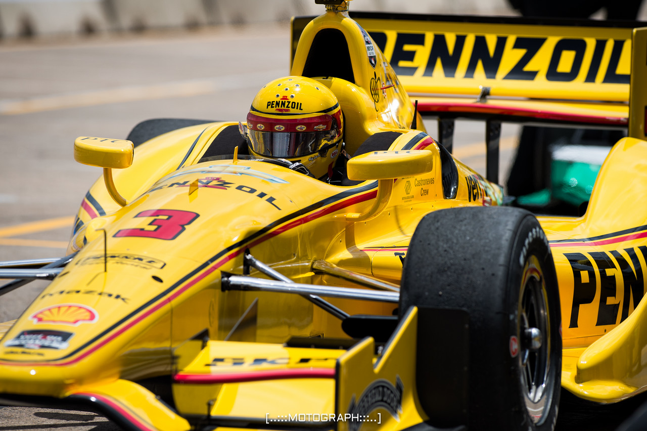 Team Penske Racing's Helio Castroneves hopes to improve over last year's results in H-Town