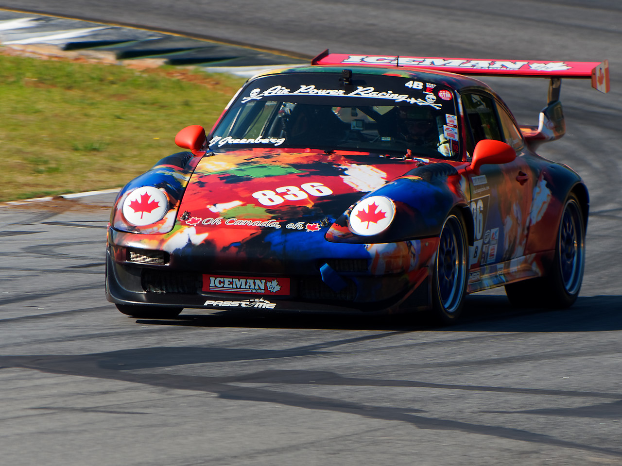 Beautiful Porsche flying Canadian Maple Leafs