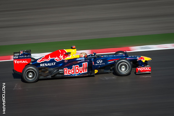 Team Red Bull's Sebastian Vettel exitsTurn 2