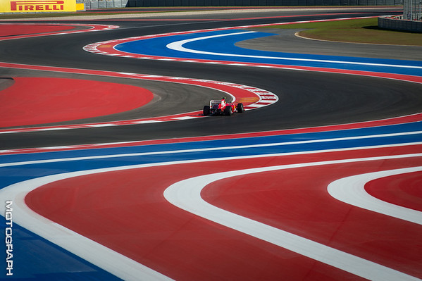 Team Scuderia Ferrari's Felipe Massa navigates through the esses during Practice 2