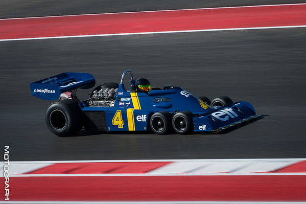 A Tyrrell P34 displays its exotic front-end configuration
