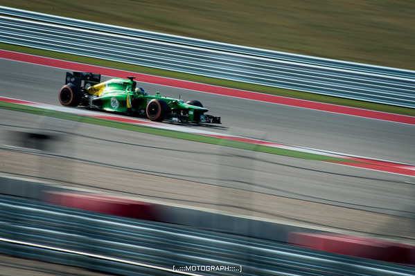 Charles Pic piloting the Caterham Lotus