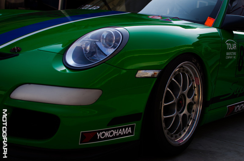The smooth curves of a Porsche GT3 Cup car