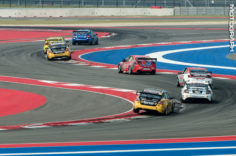 The Austin 400 was the first event to feature Circuit of the America's 2.3 mile short track, with racer's entering the new sector coming out of Turn 5