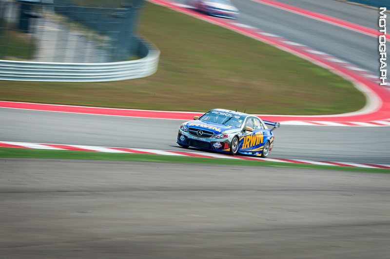 Pilot Lee Holdsworth of Irwin Racing screams out of turn 2.