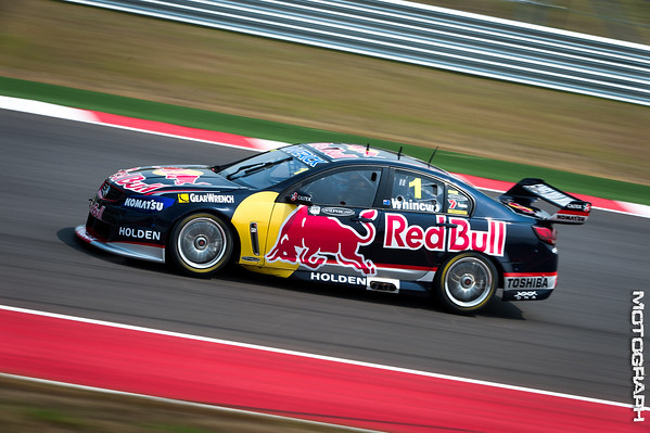 Team Red Bull Racing Australia driver Jamie Whincup dominated the field over the race weekend finishing first in three of the four races