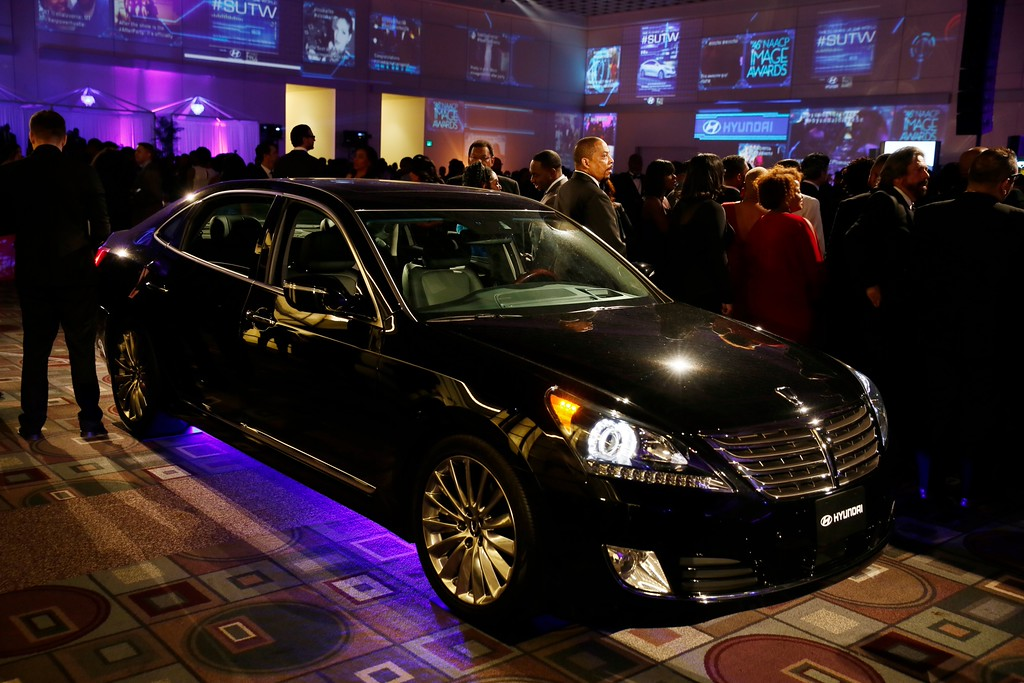 """LOS ANGELES, CA - FEBRUARY 6: Party interior with a Hyundai Equus during the 46th Annual NAACP Image Awards Post-show Gala Celebration, Sponsored By Hyundai held at the Pasadena Convention Center on February 6, 2015 in Pasadena, California. (Photo by Ryan Miller/Capture Imaging)  """