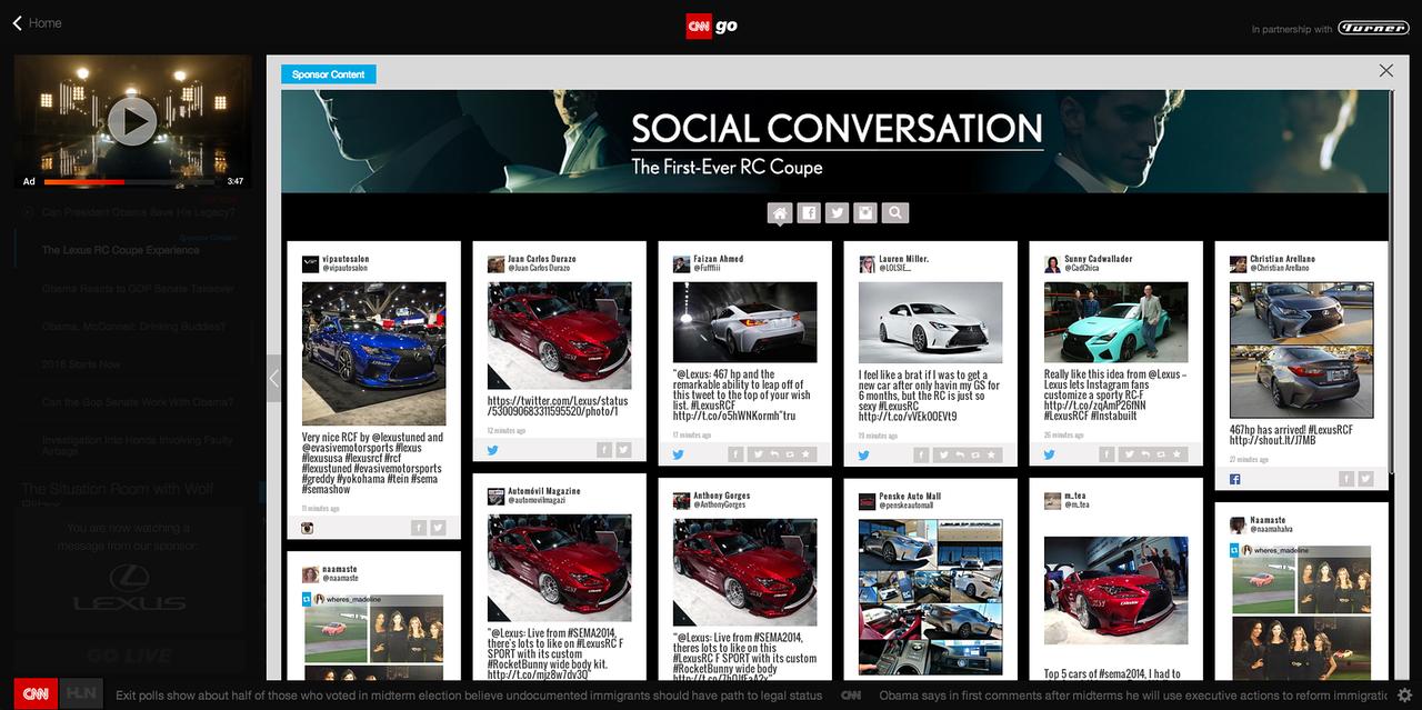 CNN:Lexus Ad 2