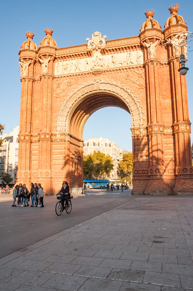 The Arc de Triomf. It was built as the main access gate for the 1888 Barcelona World Fair.