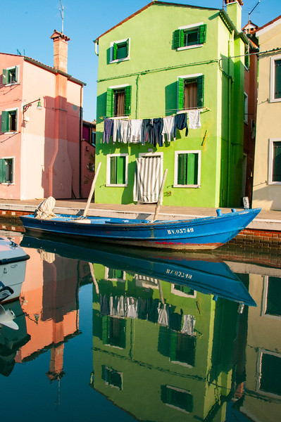 Every property is waterfront property in Burano - an island about 30 minutes from Venice